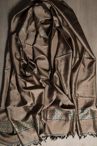 Baluchari weave in pure silk scarf