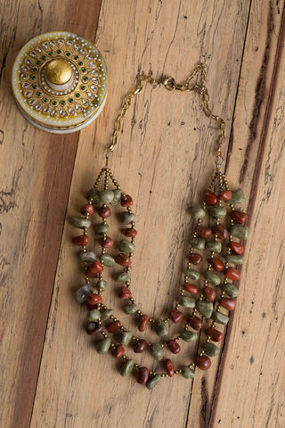 Multi Stone Bead Necklace