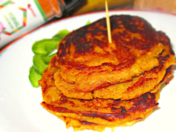 Spicy Plantain Pancakes (Tatale)