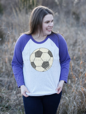 Proud Coach's Wife (Soccer) Raglan - Tees