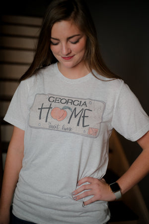 Georgia License Plate Tee - Doodles by Rebekah