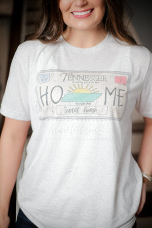 Tennessee License Plate Tee - Doodles by Rebekah