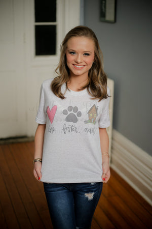 Love. Foster. Adopt. (Pet) Tee - Doodles by Rebekah