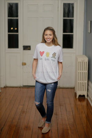 Love. Foster. Adopt. (Child) Tee - Doodles by Rebekah
