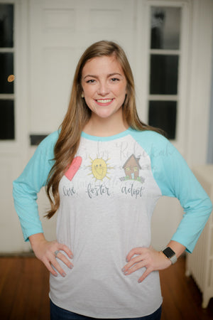 Love. Foster. Adopt. (Child) - Tees