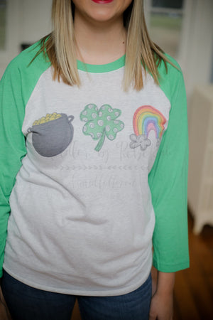 Pot of Gold Raglan - Doodles by Rebekah