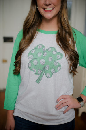 Four Leaf Clover Raglan - Doodles by Rebekah