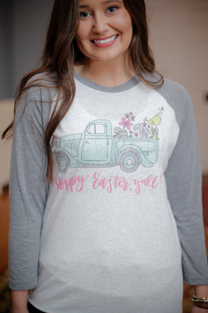 Hoppy Easter Y'all!! Vintage Truck - Tees