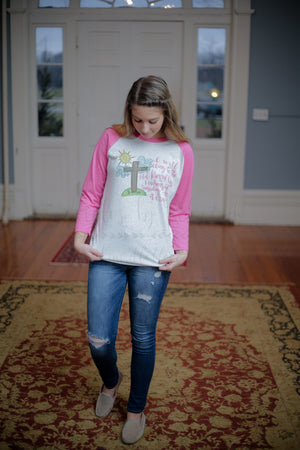 Old Rugged Cross Raglan - Tees