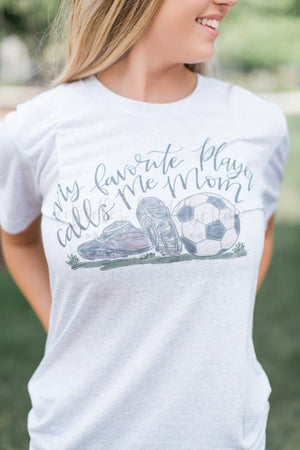 My Favorite Player-SOCCER Mom Tee - Doodles by Rebekah