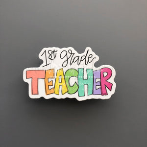 1st Grade Teacher Sticker - Doodles by Rebekah