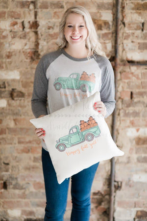 Fall Truck Square Pillow - Pillow