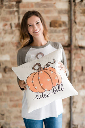 Hello Fall Pillow - Doodles by Rebekah
