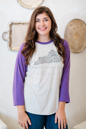 Kentucky Teacher Word Art Raglan - Doodles by Rebekah