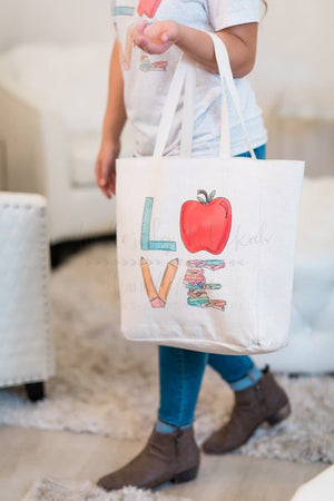 'LOVE' Back to School Tote - Doodles by Rebekah