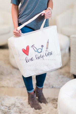 Love. Help. Care. Tote - Doodles by Rebekah