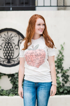 Juicy Peach Tee - Doodles by Rebekah
