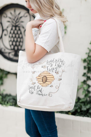 Sweet to the Soul Tote - Doodles by Rebekah