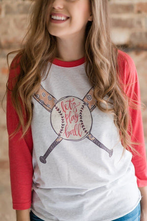 Let's Play Ball Raglan - Doodles by Rebekah