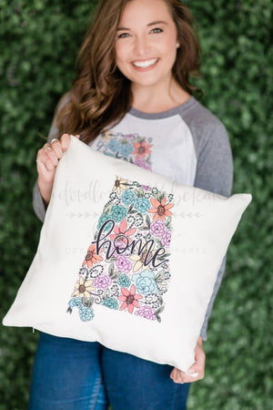 Alabama Floral Square Pillow - Pillow