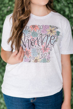 Arkansas Floral Raglan or Tee - Doodles by Rebekah