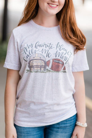 My Favorite Player FOOTBALL Mom Tee - Doodles by Rebekah
