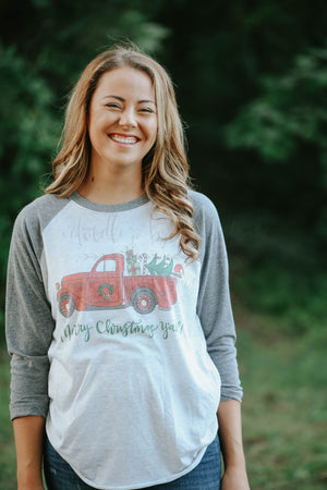 Merry Christmas, Y'all! Vintage Truck - Doodles by Rebekah