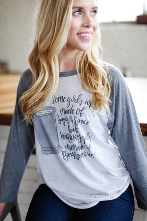 Kentucky Girls Bourbon & Ice Baseball Raglan - Doodles by Rebekah