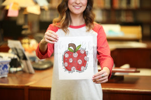 Apple Teacher 8x10 Print - Doodles by Rebekah