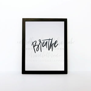 Breathe 8x10 Print - Doodles by Rebekah