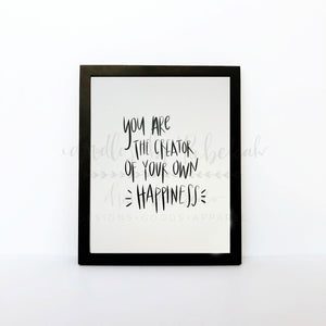 Creator Of Your Own Happiness 8x10 Print - Doodles by Rebekah