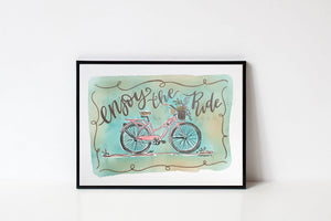 Enjoy The Ride 8x10 Print - Doodles by Rebekah