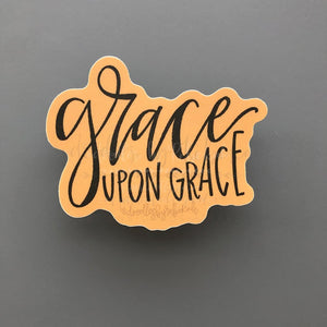 Grace Upon Grace Sticker - Doodles by Rebekah