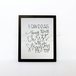 I Can Do All Things 8x10 Print - Doodles by Rebekah