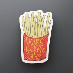 Fries Before Guys Sticker - Doodles by Rebekah