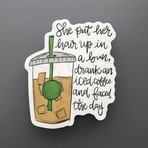 Iced Coffee Sticker - Doodles by Rebekah