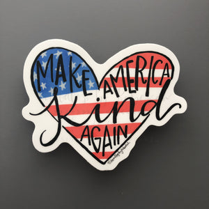 Make America Kind Again Sticker - Doodles by Rebekah