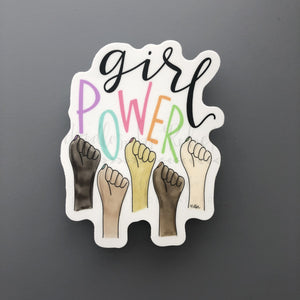 Girl Power Sticker - Doodles by Rebekah
