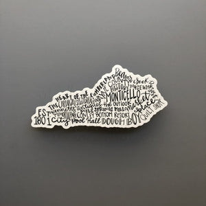 Monticello KY Word Art Sticker - Sticker