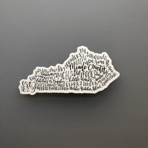 Meade County, KY Word Art Sticker - Doodles by Rebekah