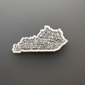 Paris, KY Word Art Sticker - Doodles by Rebekah
