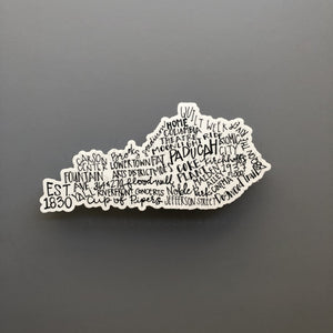 Paducah, KY Word Art Sticker - Doodles by Rebekah