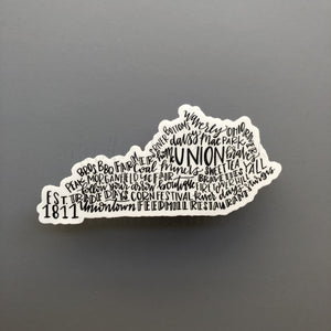 Union, KY Word Art Sticker - Doodles by Rebekah