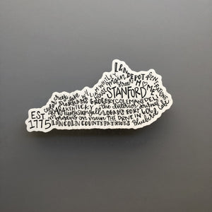 Stanford, KY Word Art Sticker - Doodles by Rebekah