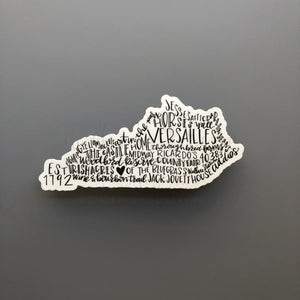 Versailles, KY Word Art Sticker - Doodles by Rebekah