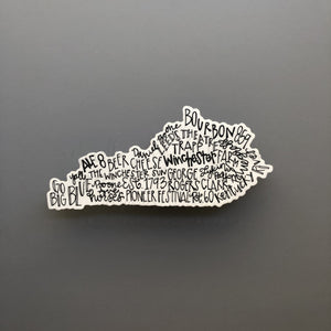 Winchester, KY Word Art Sticker - Doodles by Rebekah
