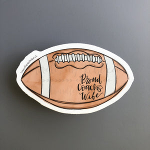 Proud Coach's Wife (Football) Sticker