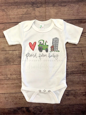 Proud Farm Baby Bodysuit - Doodles by Rebekah