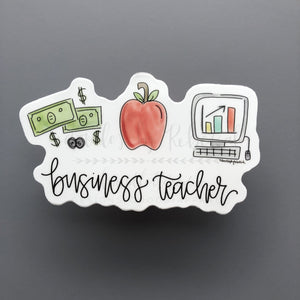 Business Teacher Sticker