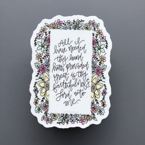 Great is Thy Faithfulness Sticker